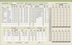 A view of the E-Calc program.