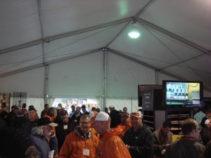 Inside the Ditch Witch tent at ICUEE 5/10/2009