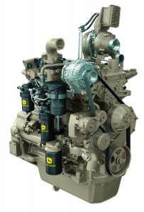 A John Deere Interim Tier 4 Powertech PVX 4045 engine that will soon be in use.
