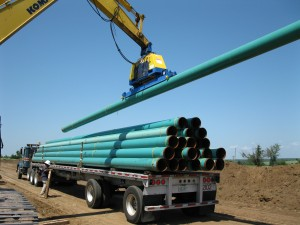 Gateway Pipeline used the Vacuworx MC3 to handle 12-inch line pipe in Cushing, OK.