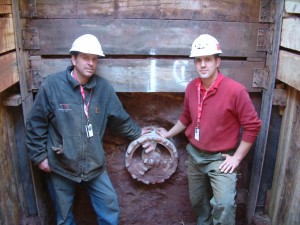Pictured left is Rob Langenbach, operations manager and chief operator, and Dan Paster, national guided auger boring consultant and operator for ICON Tunnel Systems.