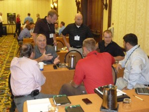 There were several break-outs requiring interactive discussions. Among those pictured are: Gary Lawson, Ditch Witch; Jeff Gabrielse and Will LeBlanc, Hammerhead; Brock Wilson; and Blake Culp