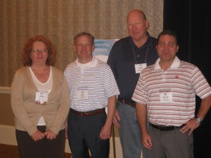 2012 NASSCO Officers: Vice President Joan Stone, President John Nelson, Treasurer Mark Metcalfe and Secretary Stuart Tillery.