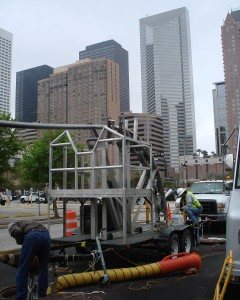 The location of the project in the downtown area of Houston required a trenchless installation.