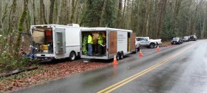 Setting up at first deployment with Mobile Command posts in place.