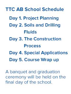 TTC Auger Boring School Schedule