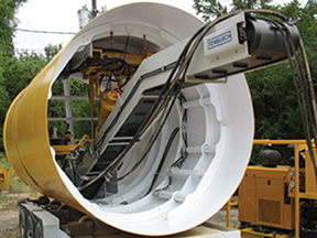 Tenbusch designs and fabricates custom tunneling and pipe jacking shield conveyors