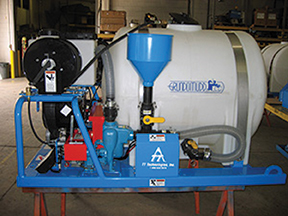 TT Technologies Grundomud uses a Venturi mixer/filtration system