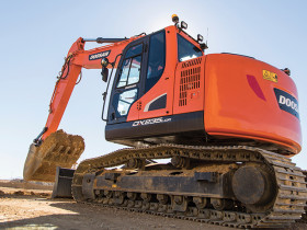 The Doosan DX235LCR-5 crawler excavator