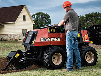 The Ditch Witch 100SX and 410SX vibratory plows are designed for compact underground installation projects