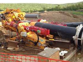 "Direct Pipe is a single-pass process that uses a steerable tunnel-boring ""pipe thruster"" to push pipe into place"