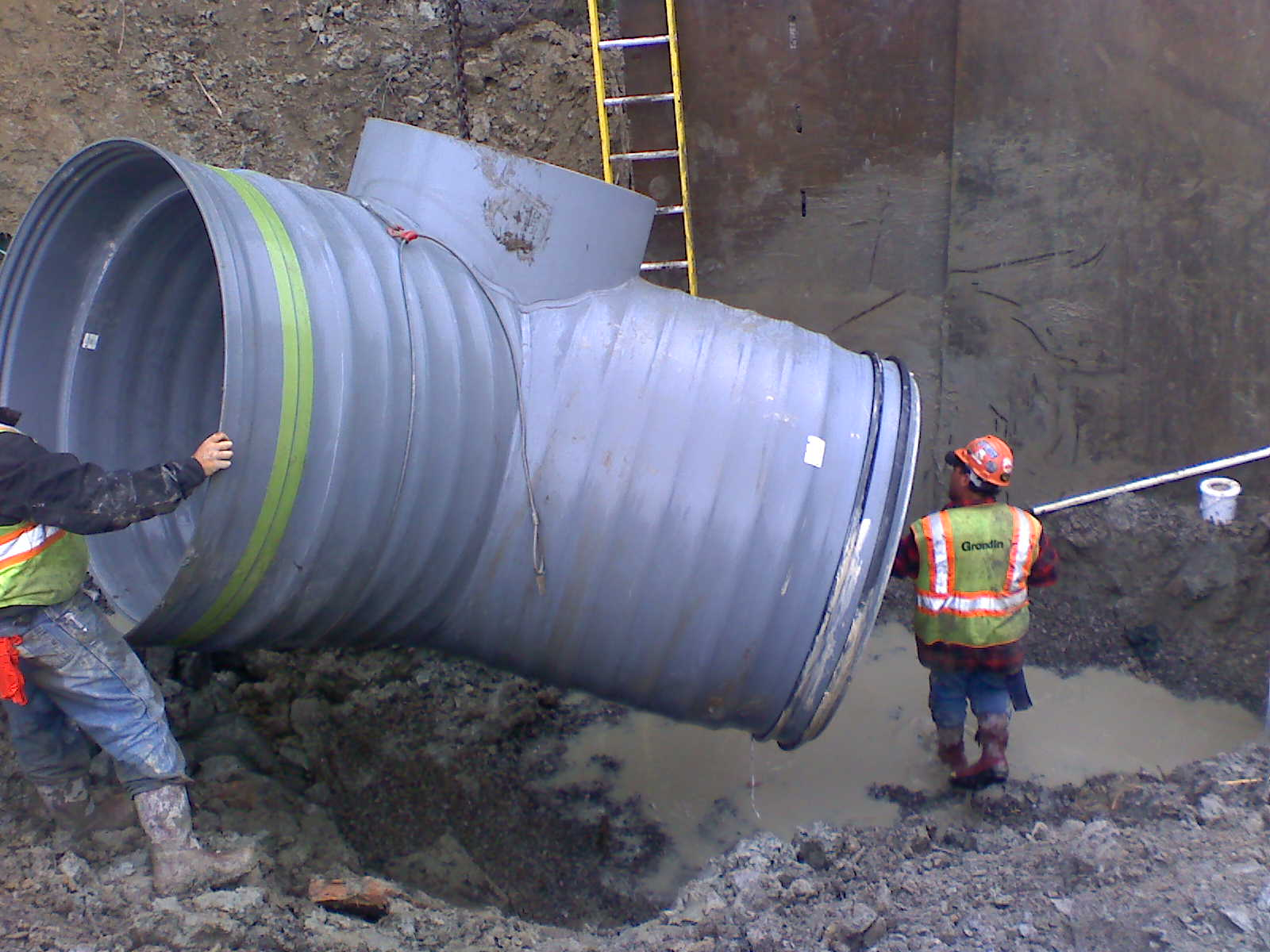 Polypropylene Pipe Used For Maine Combined Sewer Overflow